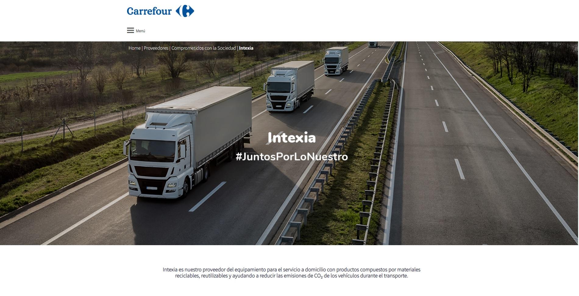 Juntosporlonuestro - INTEXIA en la plataforma de Carrefour #JuntosPorLoNuestro
